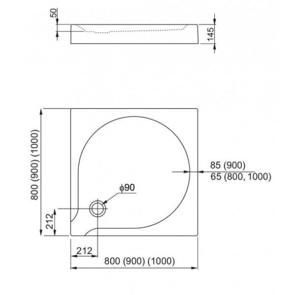 aquaform Душевой поддон Aquaform Delta 90x90 см 201-06911