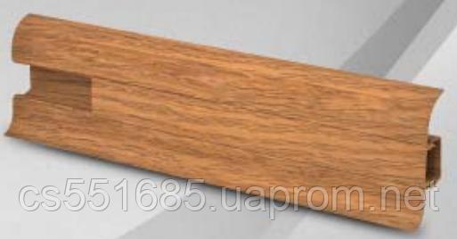 W 004 дуб індійський - плінтус підлоговий пластиковий Wimar (Вімарі)