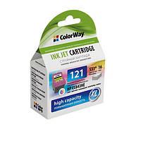 Картридж HP CC643HE  №121 XL ColorWay Color ( 16мл)