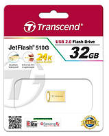 USB флеш 32Gb Transcend JF 510 Metal Gold
