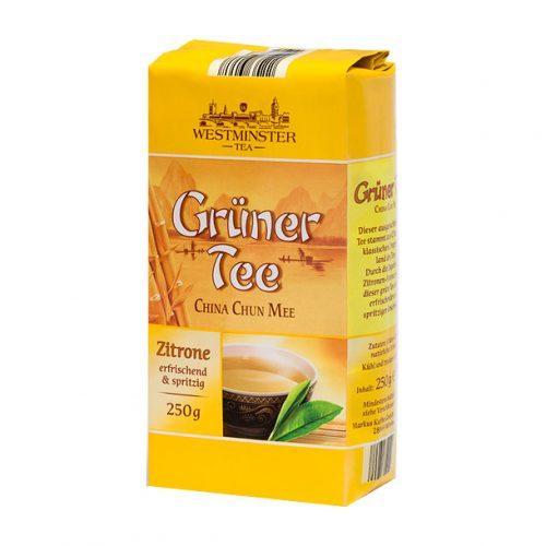 Westminster Gruner Tee Zitrone зеленый чай со вкусом лимона, 250г.