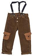 Вельветовые брюки с подтяжками
