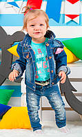 Детские джинсы с поясом на девочку