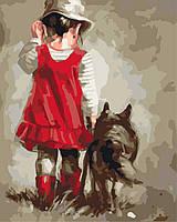 Рисование по номерам Лучший друг худ.Мария Остхейзен (KH2313) Идейка 40 х 50 см