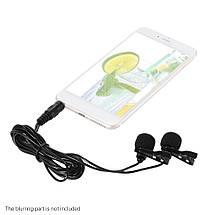 Двойной петличный микрофон для телефонов и ПК, MacBook., фото 2