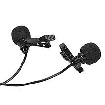 Двойной петличный микрофон для телефонов и ПК, MacBook., фото 3