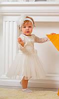Детское атласное платье