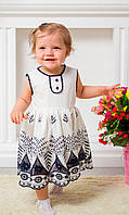 Платье с нежной вышивкой для девочки