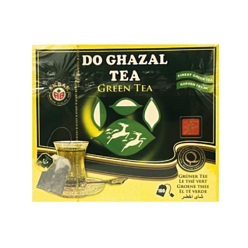 Akbar Do Ghazal Green Tea цейлонський пакетований зелений чай, 100шт.