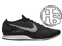 Мужские кроссовки Nike Flyknit Racer Black/White 526628-005