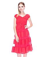 Платье из хлопка Мария 9514-6008 42-46р корал