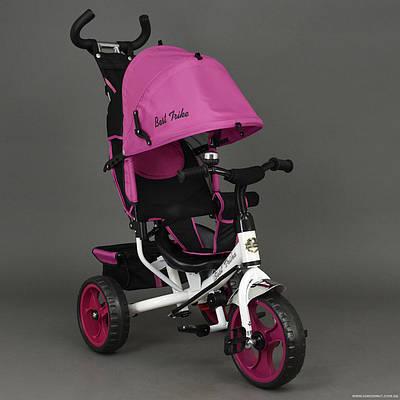 Велосипед 6570 3-х колёсный Best Trike РОЗОВЫЙ, переднее колесо 12 дюймов d=28см, заднее 10 дюймов d=24см, ПЕНА