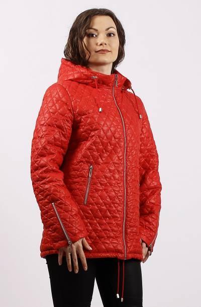 Демисезонная стеганная куртка батальных размеров Разные цвета