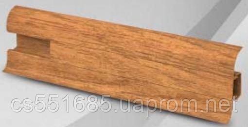 W 006 дуб аллюр - плинтус напольный пластиковый  Wimar (Вимар)