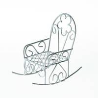 Металлическое мини кресло-качалка