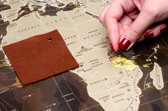 Cкретч карта мира My Map Chocolate
