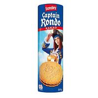 Бисквитное печенье с шоколадом Sondey Captain Rondo, 500 гр.