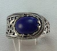 Кольцо с лазуритом серебро 925 проба