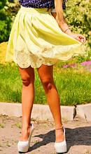 Юбка-тюльпан желтая