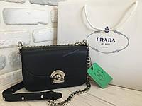 Кожаная сумка Prada 0414 black