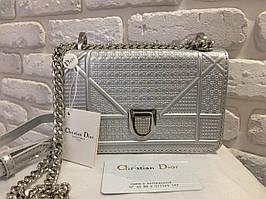 Женская сумочка mini Dior silver 0421