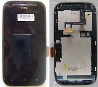 Дисплей для HTC T326e Desire SV + touchscreen, черный, с передней панелью