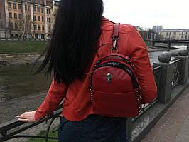 Кожаный рюкзак Philipp Plein red 0440
