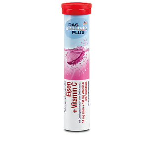 DAS gesunde PLUS Eisen+Vitamin C шипучі таблетки з Залізом і Вітаміном С, 20 табл.