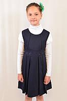 Стильный сарафан с вышивкой для девочки в школу