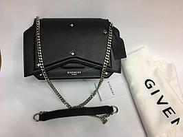 Кожаная сумка Givenchy black 0444