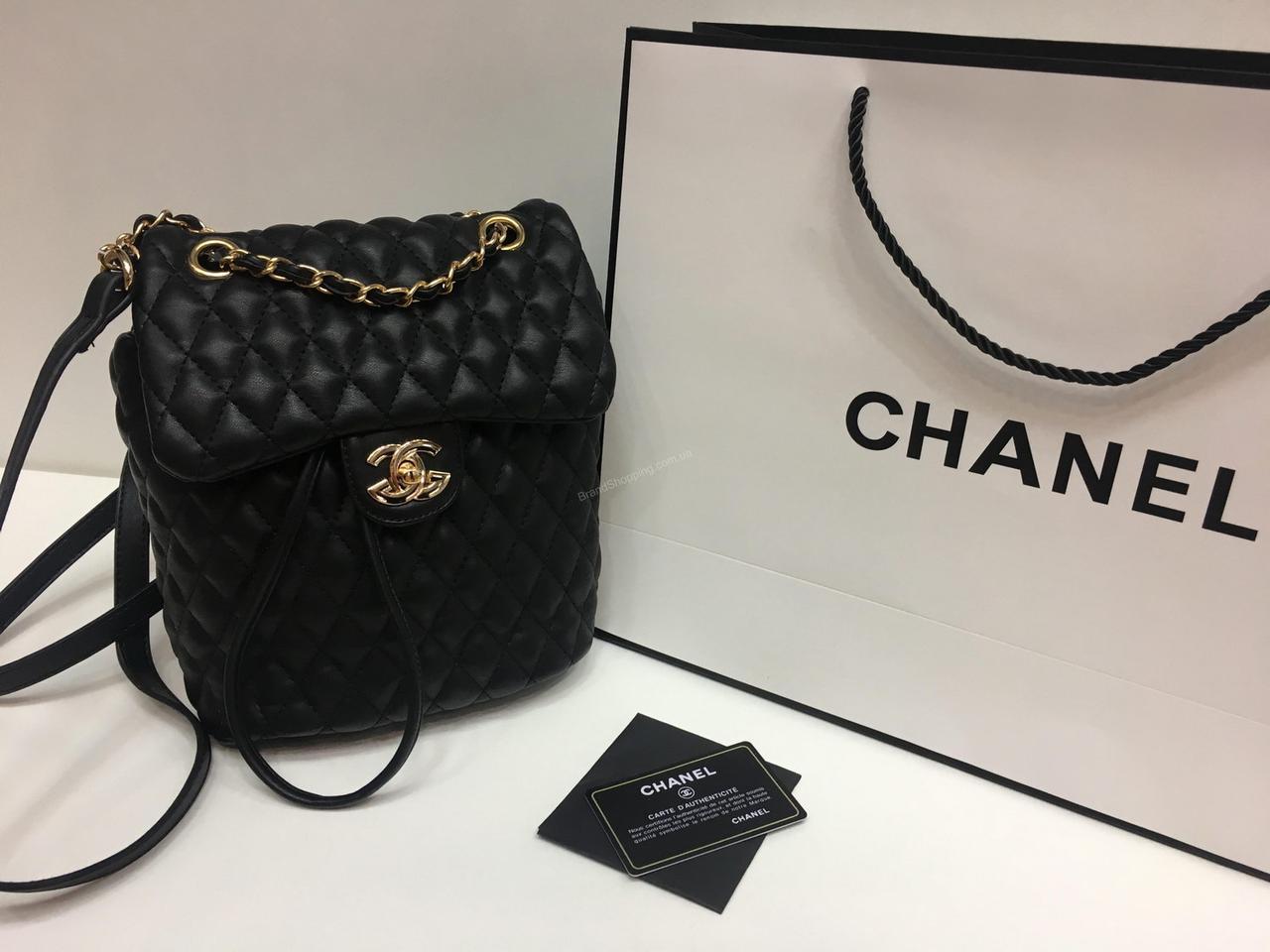 50022f428785 Женский кожаный рюкзак- сумка (сумочка ) Chanel 0445 - купить по ...