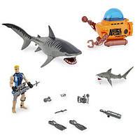 Игровой набор морские животные Animal Planet Tiger Shark Encounter Playset