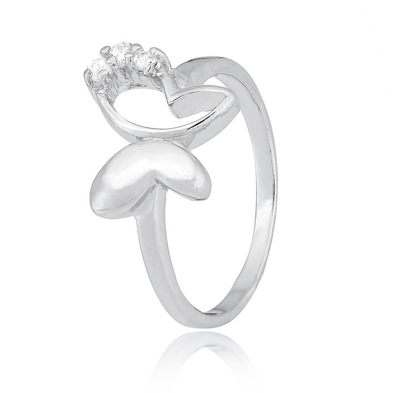 """Серебряное кольцо с бабочкой """"677"""""""