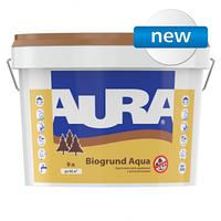 Грунтовка для древесины и антисептик Аура Биогрунт Аква ведро 9 литров