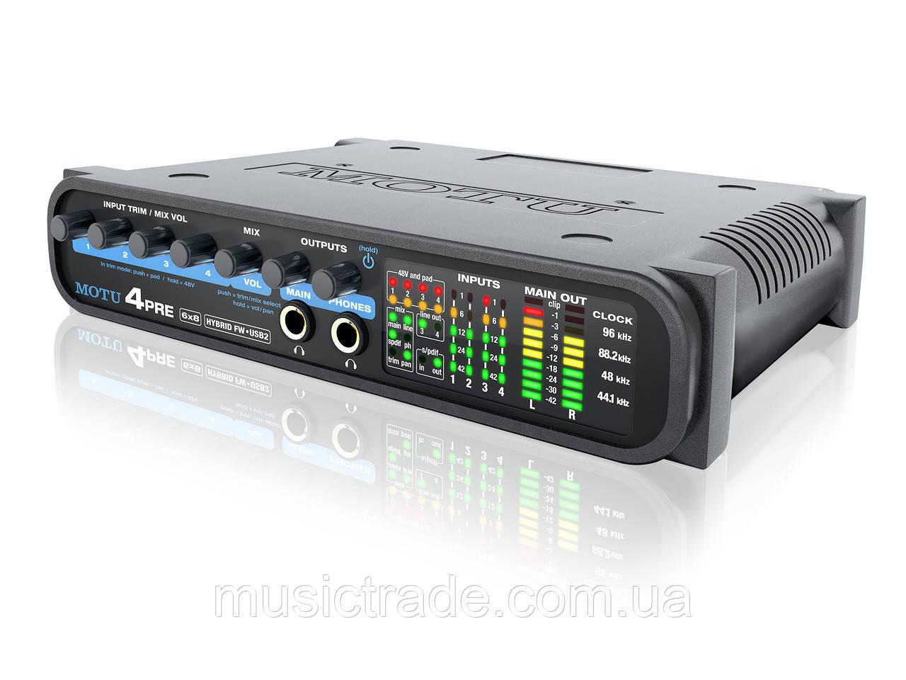 Аудиокарта MOTU 4 Pre Hybrid