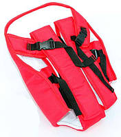 Гр Рюкзак-кенгуру №6 (1) сидя, цвет красный. Предназначен для детей с трехмесячного возраста