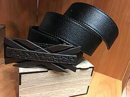 Кожаный ремень Armani Exchange черный ширина 4 см 0676