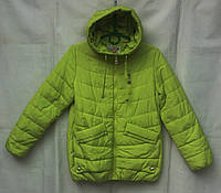 Куртка  детская демисезонная для девочки 7-12 лет,яблочный цвет