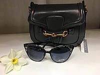 Солнцезащитные очки Gucci серые кружево 1110