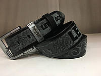 Кожаный ремень Levis ширина 4,5 см черный 1184