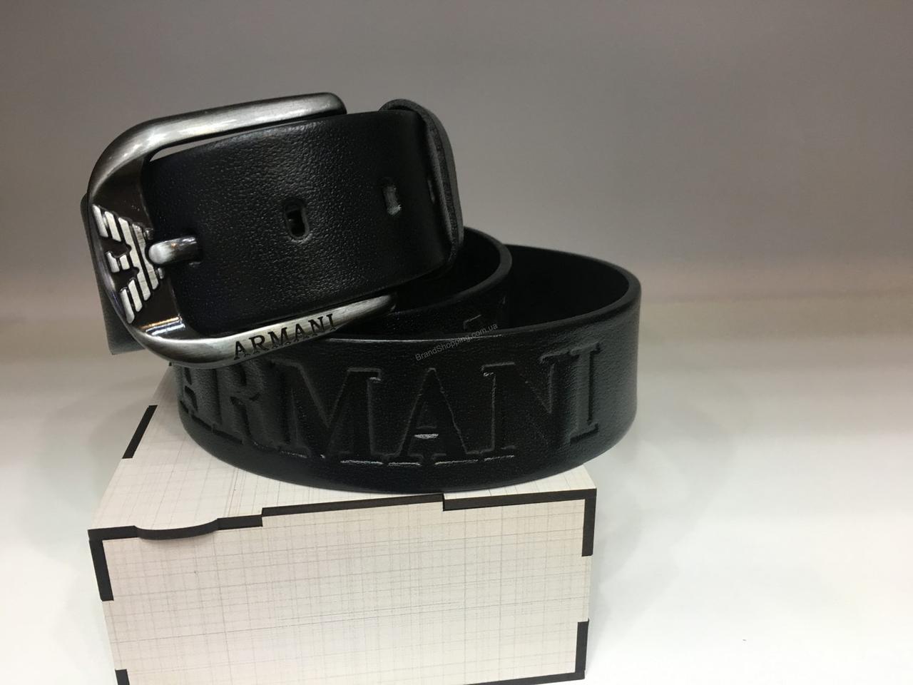 548060caa6e5 Кожаный ремень Armani 1188 ширина 4см черный - купить по лучшей цене ...