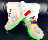 Светящиеся LED кроссовки LEDKED Rainbow
