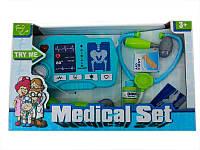 Набор доктора D 1511 (18/2) 10 предметов, рентген, звук, свет, на батарейках, в коробке