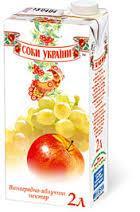 """""""Соки Украины"""" Нектар Виноградно-Яблочный 1л"""