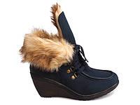 Женские ботинки T607 GRANATOWY