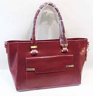 Женская  красная сумка, натуральная кожа