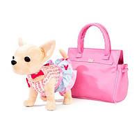 Интерактивная собачка Кикки 3219-UA с модной сумочкой: 25см, звук (украинский язык)