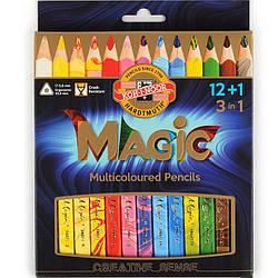 Карандаши KOH-I-NOOR цветные Magic, 12 шт. + Блендер