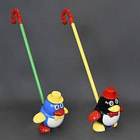 """Каталка 0339 (96) """"Пингвин"""" на палочке, 2 цвета, в кульке"""