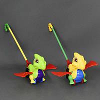 """Каталка 0360 (72) """"Дракончик"""" на палочке машет крыльями, 2 цвета, в кульке"""